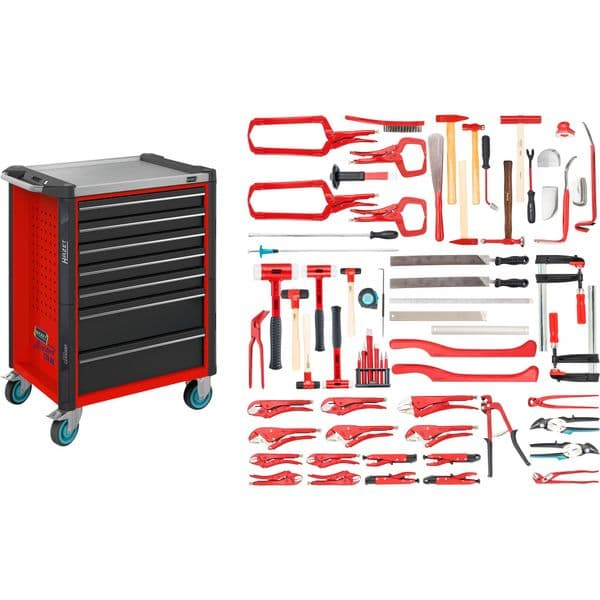 Hazet - Tool Tolley Assistant for Automotive Body Repair kit with 65 tools - (179NX-7/65ALU)
